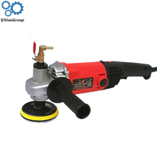 Electric 1400w marble granite wet Stone Polisher grinder sander Hand Grinder Water Mill Variable Speed c/w 7 pcs polishing Pad