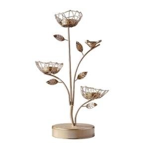 Подсвечник из кованого железа с ароматом Золотой птицы, романтический декор ручной работы для домашней столовой