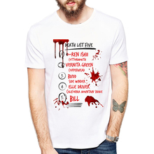 2019 T Shirt Kill Bill Death List Five Men Comfortable Casual Letters Tee Homme 3D Printed Male T-Shirts