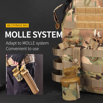 1000D Nylon Tactical Molle System Large Volume Store 3000 BBS Hunting Bag Paintball Airsoft BB Storage Bag 5