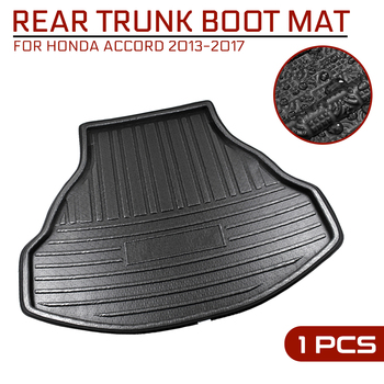 Car Floor Mat Carpet For Honda Accord 2013 2014 2015 2016 2017 Rear Trunk Anti-mud Cover image