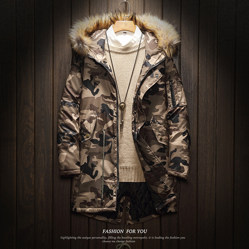 Camouflage Brand 2019 Winter Padded Warm Coats Jackets Clothes Parkas Plus Asian Size M-5XL Men's Windbreakers