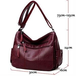 Image 2 - 2019 Luxury Thread Handbags Women Bags Designer Soft Leather Bags For Women Crossbody Messenger Bag Ladies Vintage Shoulder Bag