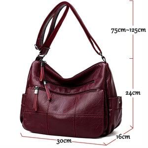 Image 2 - 2019 高級糸ハンドバッグ女性バッグデザイナーソフト女性のクロスボディメッセンジャーバッグ女性ヴィンテージショルダーバッグ