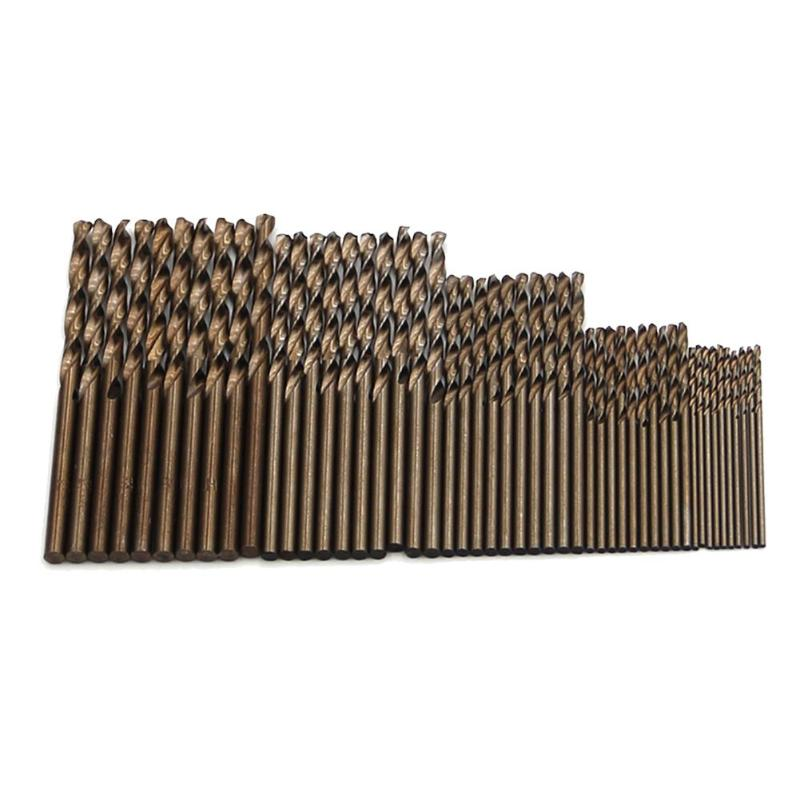 50pcs Cobalt Drill Bits For Metal Wood Working M35 Steel Twist Drill Bit