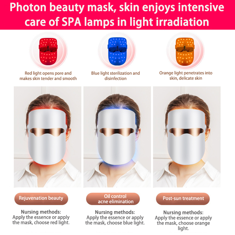 Red light LED Facial Mask Belleza Facial Masque Beauty Skin Rejuvenation Photon LED Mask Therapy Wrinkle Acne Tighten Skin Tool 4