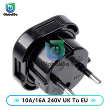 цена на 10A/16A 240V Universal Power Adapter Supply Charger Adapter UK to EU Plug Mini  Power Charger Adapter for Phone