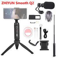 Zhiyun Smooth Q2 3-Axis Handheld Smartphone Gimbal Stabilizer for iPhone 11 Pro Max XS XR X 8P 8 Samsung S9 S8 & Gopro SJCAM
