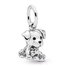 925 Sterling Silver Beads Labrador Puppy Dangle Charm Beads for Jewelry Making  fit Original Pandora Bracelets Women DIY Jewelry 14k real gold believe beads 100% 925 sterling silver two tone charm beads for jewelry making fit bracelets diy pf112k