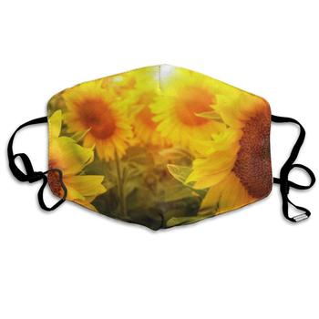 Sunflowers Flowers Fantastic Dust Mouth Mask Reusable Anti-Dust Face Mask Adjustable Earloop Skin Protection dust face mask anti dust cover protection cover face sheild plastic mask prevent droplets reusable protection face h53