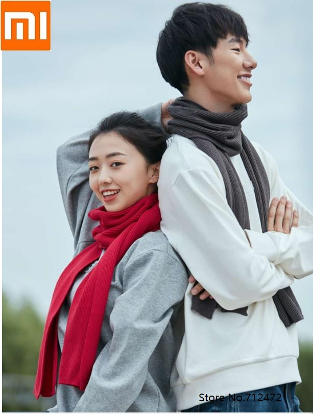Xiaomi Life Wild Knit Scarf Men And Women Fashion Scarf Winter Knit Soft Comfort Thick Lovers Wild Shawl