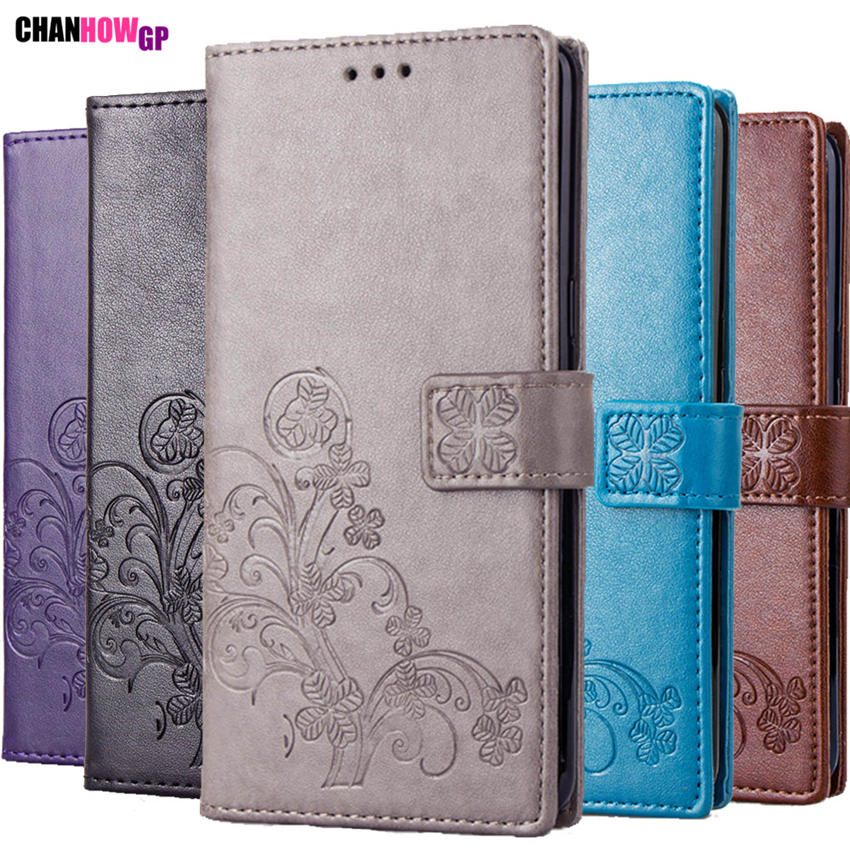3D Clover Leather Case For Motorola Moto G5S G5 G4 G6 Plus G7 Power P30 Play P40 X4 X Style E5 Z Force Z2 Play Wallet Funda Capa