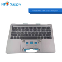 New A1989 Topcase with keyboard Grey Silver US UK Layout For Macbook Pro 2018 13.3 A1989 Top case with keyboard MR9Q2 EMC 3214