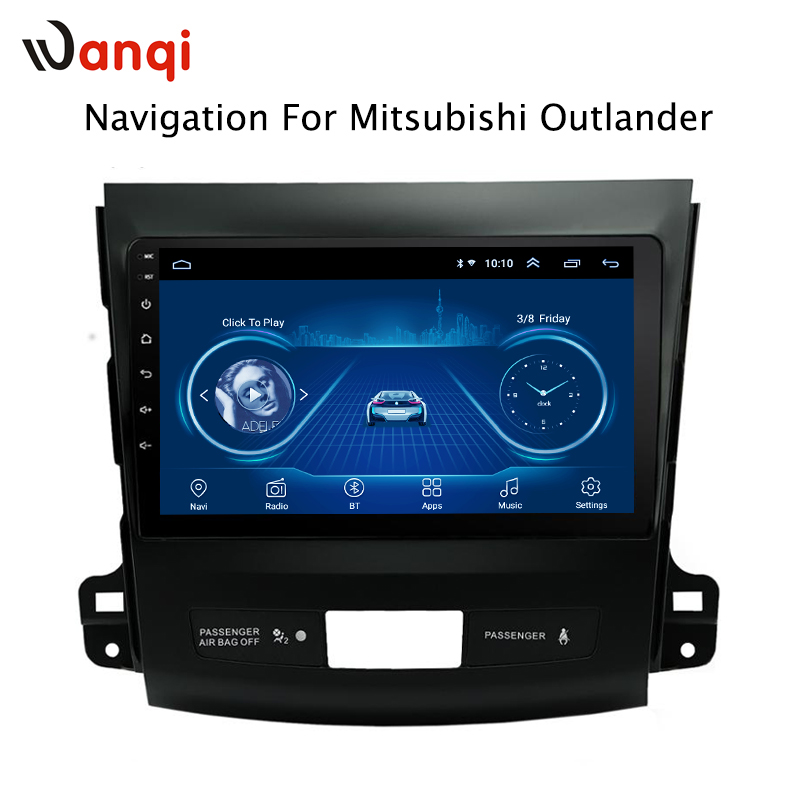 wanqi 8.1 full <font><b>touch</b></font> <font><b>screen</b></font> 9 Inch car gps radio navigation For <font><b>Mitsubishi</b></font> <font><b>Outlander</b></font> 2006 2007 <font><b>2008</b></font> 2009 2010 2011 2012 image