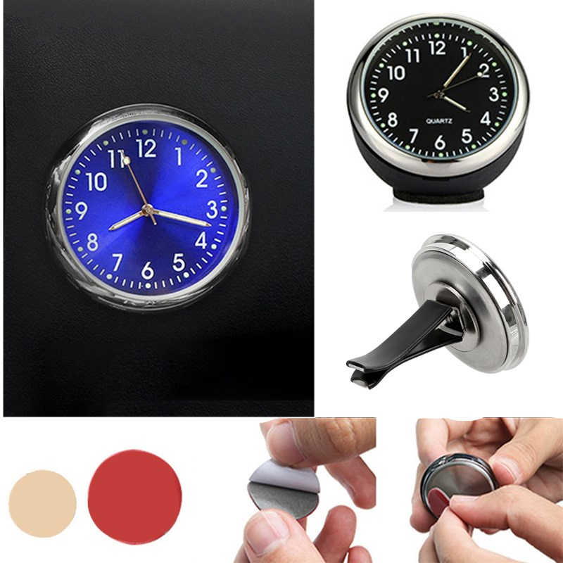 Auto Klok Lichtgevende Mini Automobiles Interne Stick-On Digitale Horloge Mechanica Quartz Klokken Auto Air Vent Automotive Accessoires