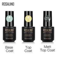 Rosalind superior e base casaco gel polonês de longa duração reforçar 7ml vernizes híbridos manicure uv gel laca arte do prego primer