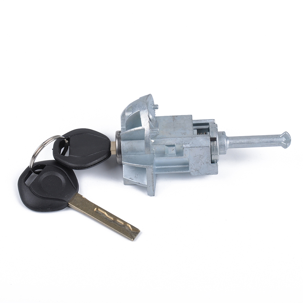 Left Driver Door Lock Cylinder Barrel Assembly Car Zinc Alloy Core With 2 Keys For BMW