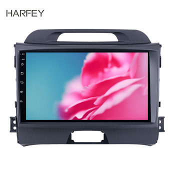 Harfey Car GPS Multimedia Player 2DIN Android 9.1 9 inch Head Unit For 2010 2011 2012 2013 2014 2015 KIA Sportage Radio Audio image