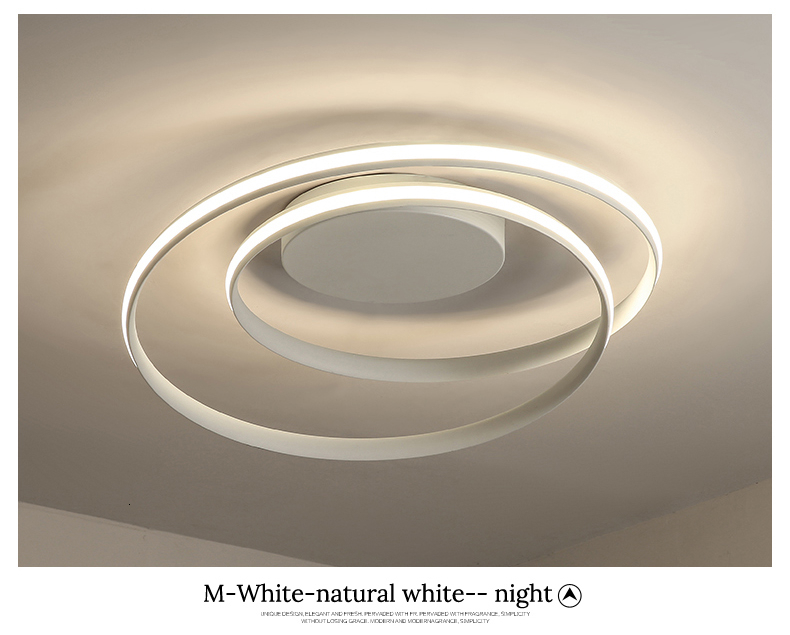 H9fc7949258f64c70aad2bb142fe246ae5 Modern Ceiling Lights LED Lamp For Living Room Bedroom Study Room White black color surface mounted Ceiling Lamp Deco AC85-265V