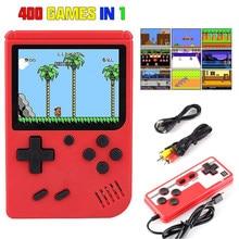 Novo handheld consoles de jogos 400 em 1 retro console de jogos de vídeo 8 bits jogador de jogo handheld jogadores gameboy para crianças presente