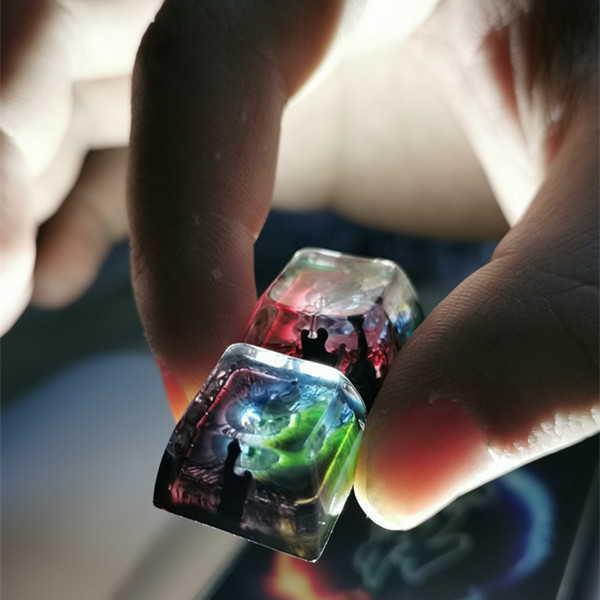 1 Piece Handmade Resin Keycap For MX Switches Mechanical Keyboard Backlit Personality Resin Keycaps OEM / SA Profile