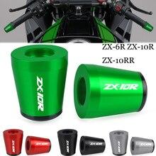 FOR Kawasaki ZX 6R ZX 10R ZX 10RR SE KRT 2017 2018 2019 2020 2021 Handlebar Grips Ends Handle Bar Cap End Plug Cover ZX6R ZX10R