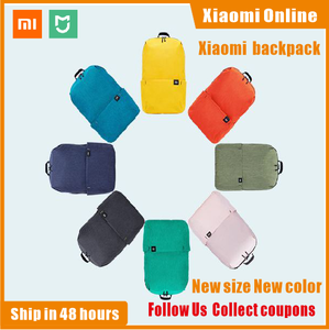 Image 1 - 2020 New Xiaomi Colorful Mini Backpack Bag 8 Colors Level 4 Water Repellent 10L Capacity 165g Weight YKK Zip Outdoor Smart Life