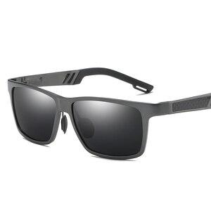 Image 3 - YSO Aluminium Meg Sunglasses Men Luxury Brand Polarized UV400 Protection Glasses For Driving Blue Lens Sunglasses For Men 6560