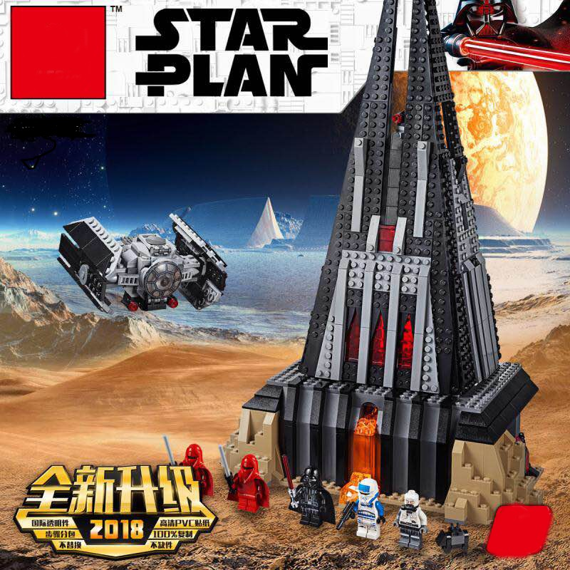 Star War Darth Vader's Castle Set Model Building Blocks Bricks DIY Toys For Children Gifs StarWar Legoinglys 75251