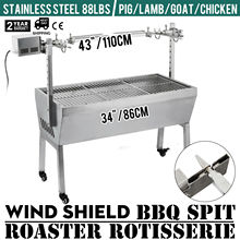 Large 1.1m Stainless 40kg Minion Spit Roaster Rotisserie Charcoal BBQ Grill