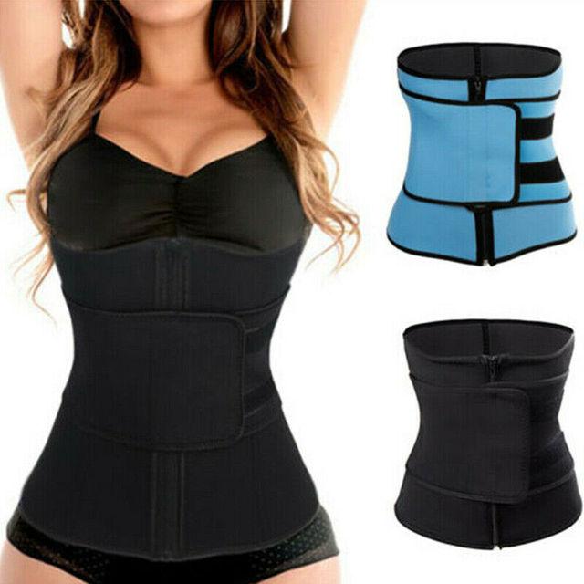Men Women Slimming Belts Waist Trainer Cincher Trimmer Sweat Belt Gym Burn Fat Slim Body Shaper Unisex Slimming Belt S-3XL 2
