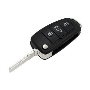 Image 3 - Modifiye MQB yarı akıllı uzaktan anahtar 3 düğme katlanır kapak akıllı araba anahtarı 315Mhz veya 433Mhz ID49 49 çip A6L için Audi A3