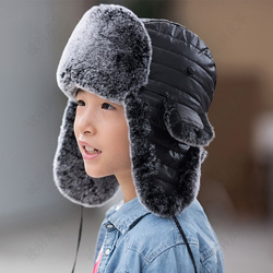 Mink Fur Hat Winter Boys And Girls Fox Fur Fur Hat Otter Rabbit Fur Fur Leifeng Hat Skiing Outdoors