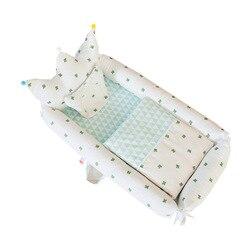 Przenośne składane łóżeczko dziecięce noworodka Bionic macicy łóżko podróży gniazdo dla dziecka korona szef łóżko z kołdrą|Łóżka podróżne|   -