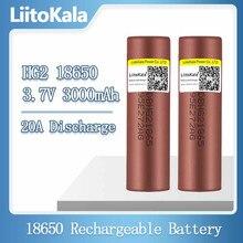 LiitoKala – Batteries rechargeables au Lithium, 3.7v, 18650 HG2, 3000mAh, à décharge continue, 30a, pour outils électriques de drones