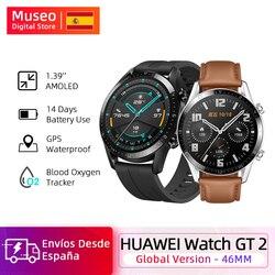 Reloj inteligente Huawei GT 2 GT2, rastreador de oxígeno en sangre spo2 Bluetooth5.1, reloj inteligente, rastreador de ritmo cardíaco y música