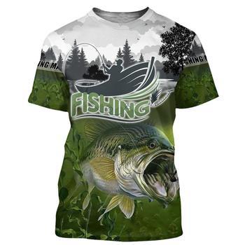 Bass bite fishing T shirt all over print