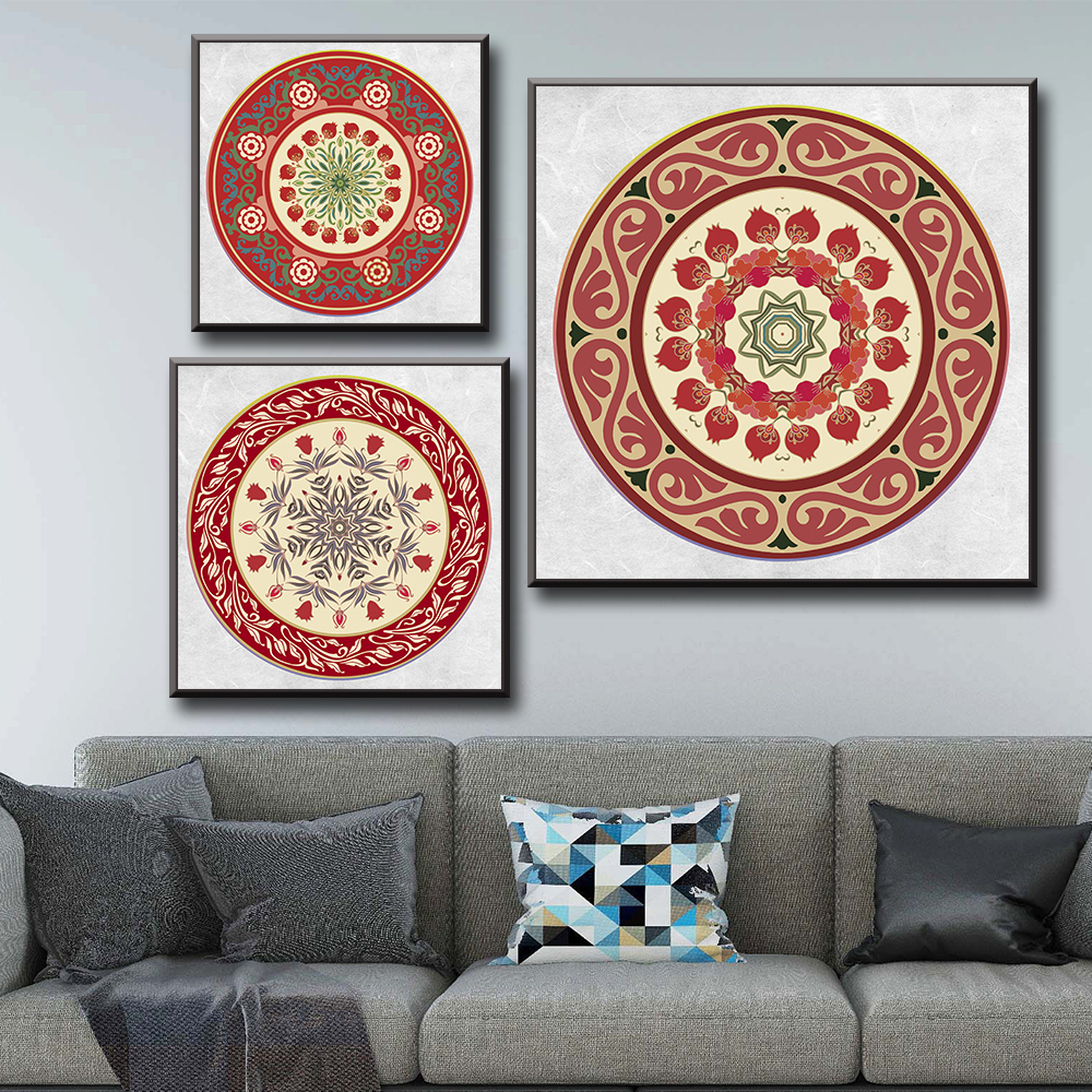 Mandala Posters And Prints Wall Art Canvas Painting Wall Pictures For Living Room Decor in Painting Calligraphy from Home Garden