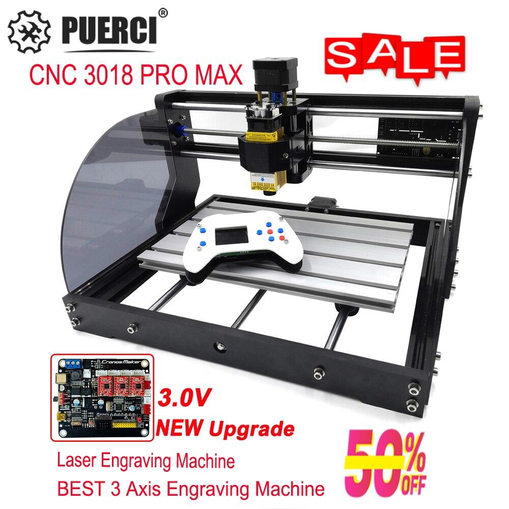 3018 Pro Max CNC Laser Stecher GRBL 3 Achse pcb Holz Router Maschine DIY Gravur Maschine Für Mini Stecher, kann arbeit mit Offline