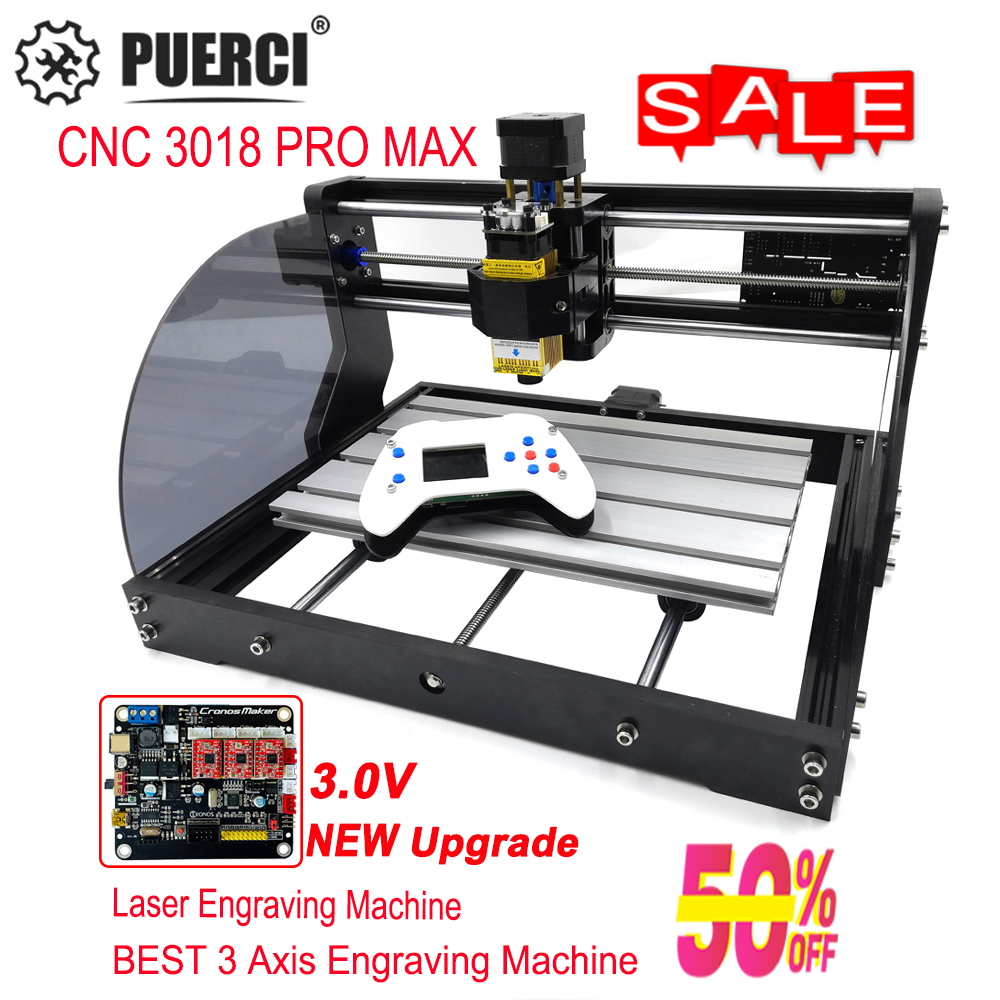3018 Pro Max CNC Laser Engraver GRBL 3Axis pcb Wood Router Machine DIY Engraving Machine For Mini Engraver,can work with Offline
