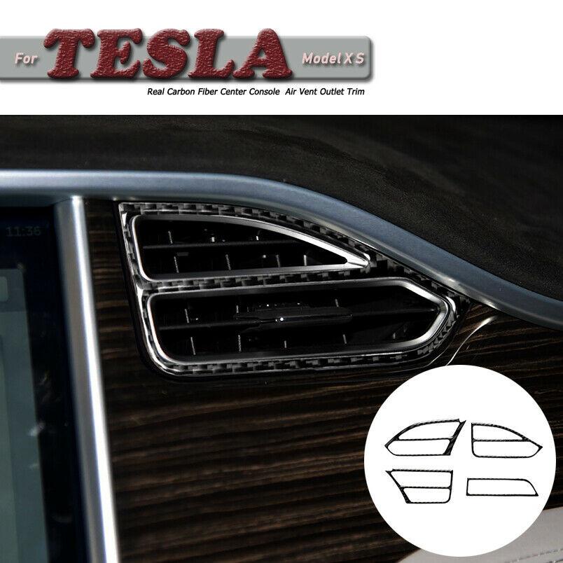 2 pezzi Cover per fotocamera auto in fibra di carbonio per Model 3 S X Autopilota Segnale di direzione Camera Trim