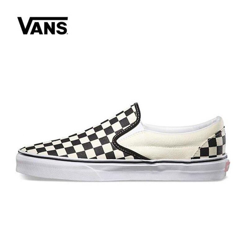 Vans Classic Slip-On Black White Original Vans Shoes Men Women Sneakers VN-0EYEBWW Unisex Skateboarding Shoes