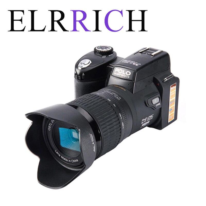 Цифровая камера ELRRICH 2021 HD POLO D7100, 33 миллиона пикселей, Профессиональная зеркальная видеокамера с автофокусом, 24-кратный оптический зум, три о...