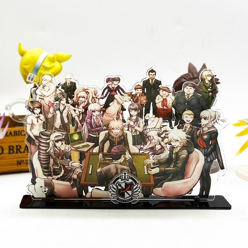 Danganronpa 1&2 Group Komaeda Celestia Junko Acrylic Stand Figure Model Plate Holder Topper Anime