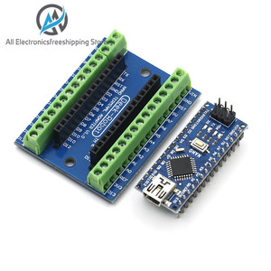 NANO V3.0 Controller Terminal Adapter Expansion Board NANO IO Shield Simple Extension Plate For Arduino AVR ATMEGA328P(China)