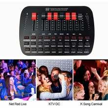 BT Suono Dal Vivo Scheda di trasmissione In Diretta KTV Karaoke In Diretta Universale Volume Regolabile USB Mixer Audio Esterna Scheda Audio Studio Doppio