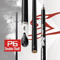 PREOAIDR 3142 P6 Pool Cue 2 Shafts Carbon+Maple Shaft Billiard Kit 10/11.5/13mm Tip With Extension Professional Billar Stick Cue