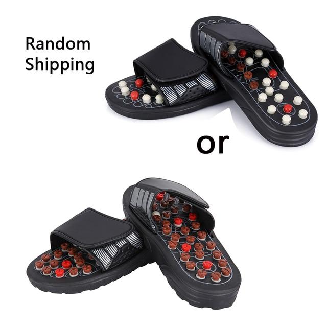 Feet Massage Slippers Foot Reflexology Acupuncture Therapy Massager Walk Stone Shoes Acupuncture Cobblestone Massageador Sandal 1