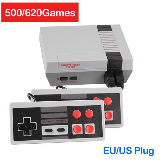 وحدة تحكم تلفاز ألعاب صغيرة 8 بت ريترو كلاسيكي يده الألعاب لاعب المدمج في 500/620 ألعاب AV الناتج لعبة فيديو وحدة التحكم دروبشيبينغ