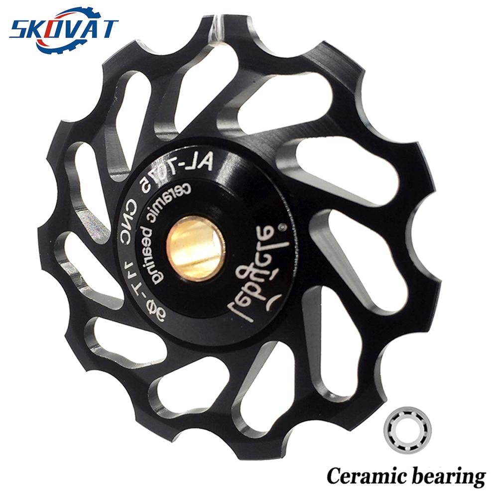 13T Bicycle Rear Derailleur Pulley Ceramic Bearing Rear Pulley Jockey Wheel Bike Guide Roller Vbestlife 1 Pair 11T